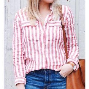 J. CREW linen button up shirt 8T